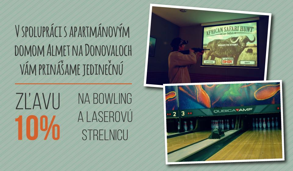 Bowling a laserová strelnica - Villa GARDENIA 270e9d8d06d