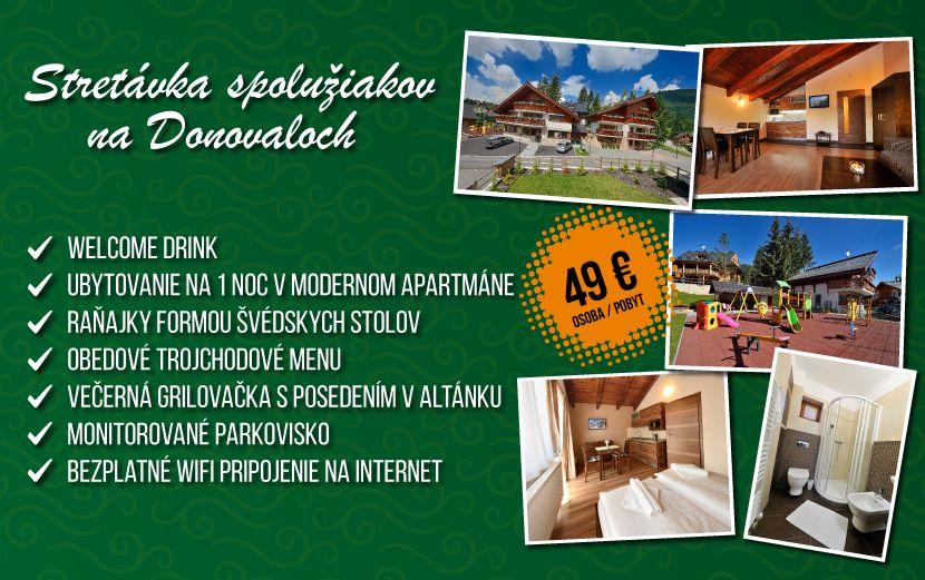 Stretávka spolužiakov na Donovaloch - Villa GARDENIA 629bc8f8aa8